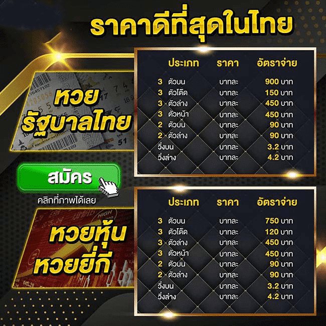Thai Lotto ราคาหวย