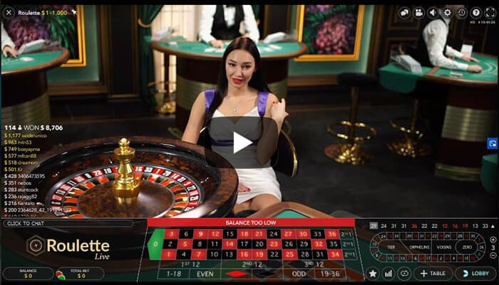 N2Live Roulette-Live play
